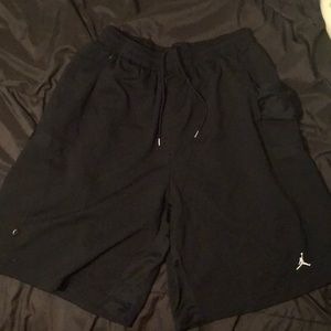 Black Jordan shorts